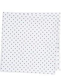 Pañuelo de bolsillo de algodón a lunares blanco de Ted Baker