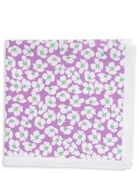 Pañuelo de bolsillo de algodón con print de flores violeta claro de Ted Baker London