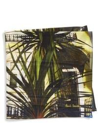 Pañuelo de bolsillo de algodón en marrón oscuro de Paul Smith