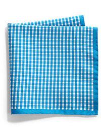 Pañuelo de bolsillo de cuadro vichy azul