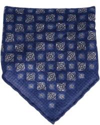 Pañuelo de bolsillo de paisley azul marino de Brunello Cucinelli