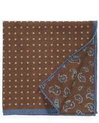 Pañuelo de bolsillo de paisley marrón de Ted Baker London