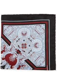 Pañuelo de bolsillo de paisley negro