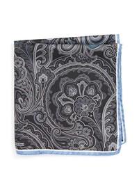 Pañuelo de bolsillo de paisley negro de Nordstrom