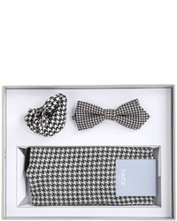 Pañuelo de bolsillo de pata de gallo en negro y blanco