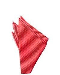 Pañuelo de bolsillo de rayas horizontales rojo