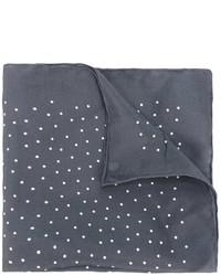 Pañuelo de bolsillo de seda a lunares en gris oscuro de Lanvin