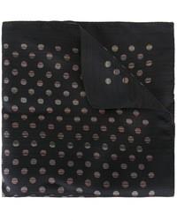 Pañuelo de bolsillo de seda a lunares negro de Paul Smith