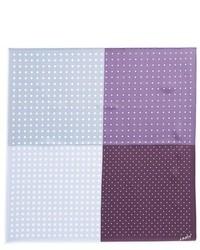 Pañuelo de bolsillo de seda a lunares violeta claro de Lanvin
