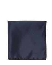 Pañuelo de Bolsillo de Seda Azul Marino de Ermenegildo Zegna