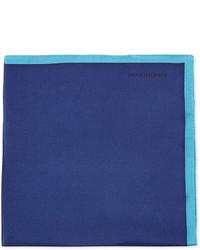 Pañuelo de bolsillo de seda azul de Burberry