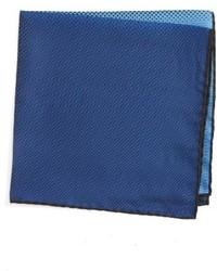 Pañuelo de Bolsillo de Seda Azul de Lanvin
