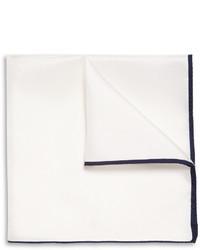 Pañuelo de bolsillo de seda blanco de Drakes