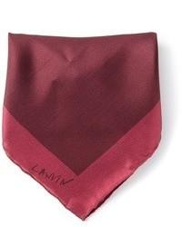 Pañuelo de bolsillo de seda burdeos de Lanvin