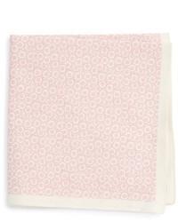 Pañuelo de bolsillo de seda con print de flores rosado de Ted Baker London