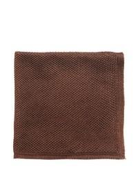 Pañuelo de bolsillo de seda en marrón oscuro