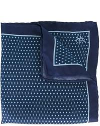 Pañuelo de bolsillo de seda estampado azul marino de Canali