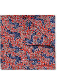 Pañuelo de bolsillo de seda estampado azul de Turnbull & Asser