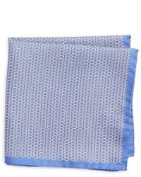 Pañuelo de bolsillo de seda estampado celeste de Eton