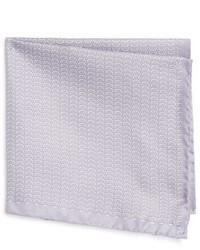 Pañuelo de bolsillo de seda estampado gris de Eton