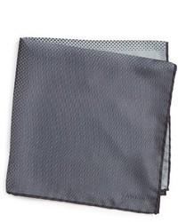 Pañuelo de Bolsillo de Seda Gris de Lanvin