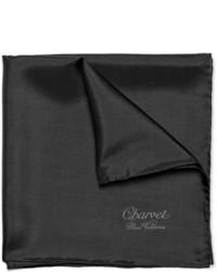 Pañuelo de bolsillo de seda negro de Charvet