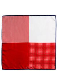 Pañuelo de bolsillo de seda rojo