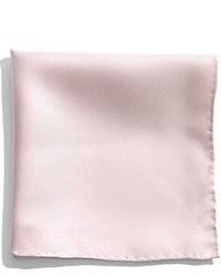 Pañuelo de bolsillo de seda rosado