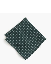 Pañuelo de bolsillo de seda verde oscuro de J.Crew