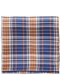 Pañuelo de bolsillo de tartán azul