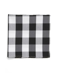 Pañuelo de bolsillo de tartán en blanco y negro