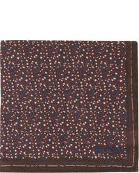 Pañuelo de bolsillo en blanco y marrón