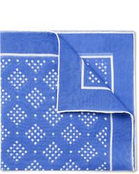 Pañuelo de bolsillo estampado azul marino de Drakes