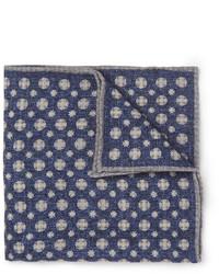 Pañuelo de bolsillo estampado azul marino