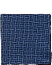 Pañuelo de bolsillo estampado azul marino de Tom Ford