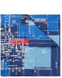 Pañuelo de bolsillo estampado azul marino de Turnbull & Asser