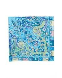 Pañuelo de bolsillo estampado azul