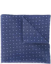 Pañuelo de bolsillo estampado azul de Hugo Boss
