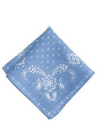 Pañuelo de bolsillo estampado azul de J.Crew