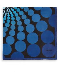 Pañuelo de bolsillo estampado azul de Tom Ford