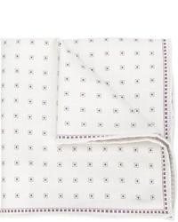 Pañuelo de bolsillo estampado blanco de Brunello Cucinelli