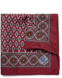 Pañuelo de bolsillo estampado burdeos