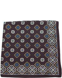 Pañuelo de bolsillo estampado en marrón oscuro
