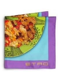 Pañuelo de bolsillo estampado en multicolor