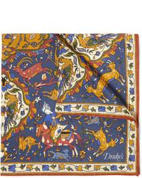 Pañuelo de bolsillo estampado en multicolor de Drakes