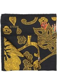 Pañuelo de bolsillo estampado negro de Eton