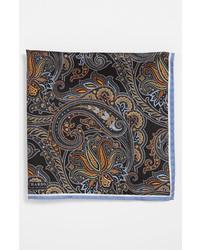 Pañuelo de bolsillo estampado negro de J.Z. Richards
