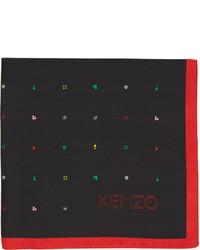 Pañuelo de bolsillo estampado negro de Kenzo