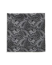 Pañuelo de bolsillo estampado negro de Topman