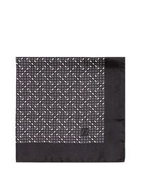 Pañuelo de bolsillo estampado negro de Z Zegna